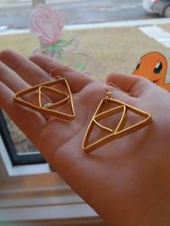 Triforce Earrings - FOR SALE! by tiketot4
