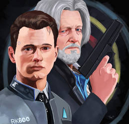 Connor and Hank - Lethal Weapon by AngelaFriedhof