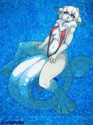 Sketch Comm: KittySharkFloaties by OwyiSensei