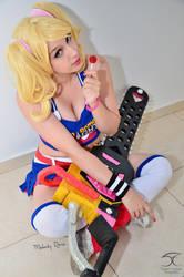 Juliet Starling - Lollipop Chainsaw cosplay 2 by MelodyxNya