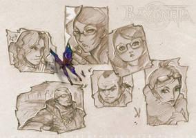 Bayonetta cast by pu