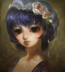 Hatsune Miku oldstyle portrait by pu