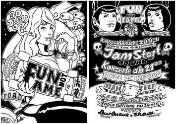 Fun not Fame Flyer Illu. by spokeart