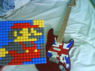 My guitar, mario etc. by Drakelance