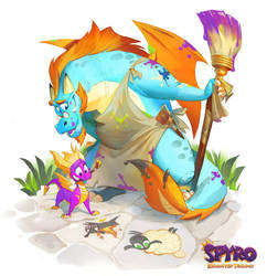 Spyro: Reiginited Trilogy Illustrations: Gildas by Gorrem