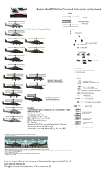Ka-68 Hellion helicopter sprite sheet by Gir1010