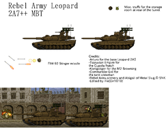 Rebel Army Leopard 2A7++ MBT sprite sheet by Gir1010