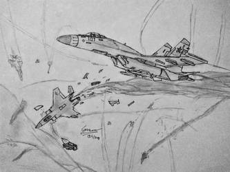 The Pencil nosed Flanker-E by Gir1010