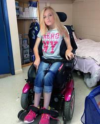 Quadriplegic in the basment storage room by WheelTobi