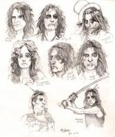 Alice Cooper sketchdump by Shamaanita