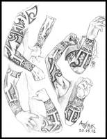 Study of Joakim Broden's tattoo by Shamaanita