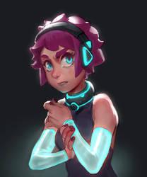 Glowing girl warm up sketch by MoonlightOrange