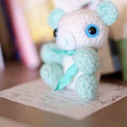 Baby Shower Bear Green by SophieArabella