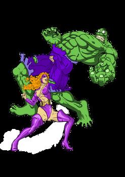 Titania-vs-hulk by nicetarget
