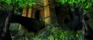 Fantasy castle matte by bhaskar655