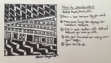 How to Zentangle by VISIONARYGirl