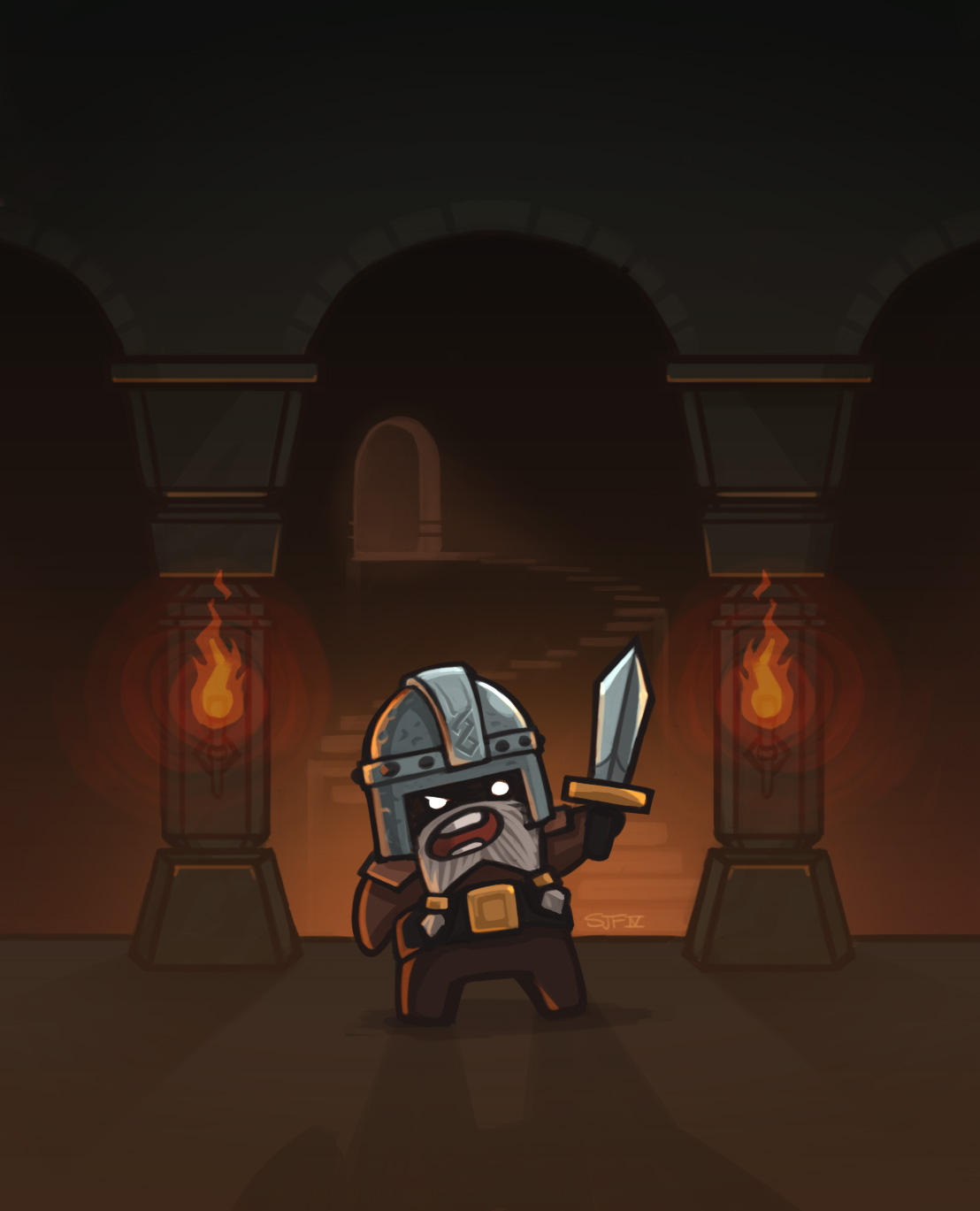 A Dwarfy Dwarf Defending his Dwarfy Hoard by cairn4