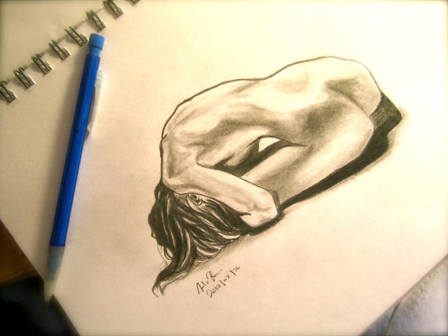 Depression Figure Drawing By Megamassogou On Deviantart