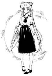 Sailor Moon inktober by Tanashi