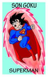 Goku-Superman by Polan-Kaede