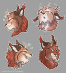 Cora's Stickers by lynxfang-art
