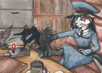 Alarm ACEO by lynxfang-art