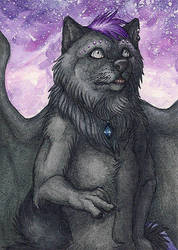 Amethyst Cave ACEO by lynxfang-art