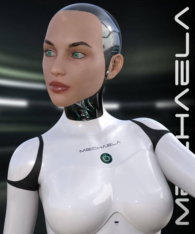 Mechaela Female Cyborg by RenderHub