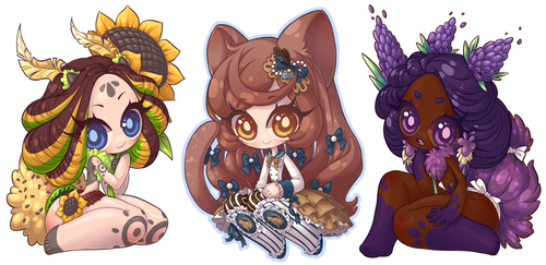 Chibi Commission Batch 116 - 118 by Lady-Bullfinch