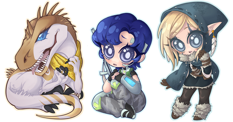 Chibi Commission Batch 204 - 206 by Lady-Bullfinch