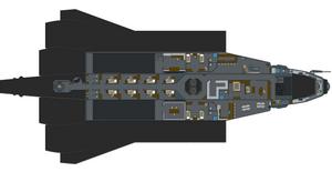 The Shuttle / Modified Gozanti Cruiser 'Top Down' by Lord-Malachi