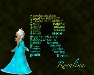 rosalina typography by rosumasansrie21