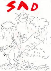 Bart Simpson Sad Drawing by Amalockh1