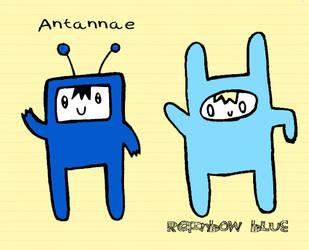Antannae and Rainbow Blue by Amalockh1