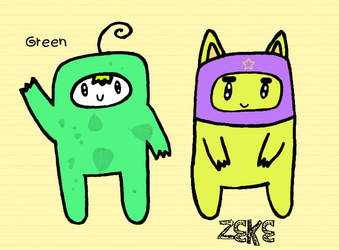 Green and Zeke by Amalockh1