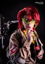 Ghostbusters - Janine Melnitz is drinking a Coke by kathy1602