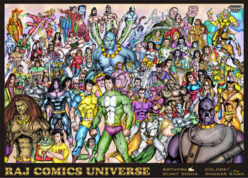Raj Comics Universe - Color By Shahab Khan by shahabkhan01