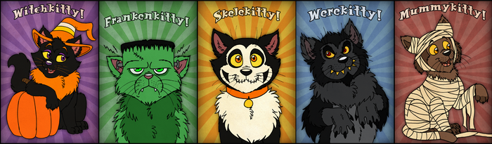 Halloween Cats by Cavity-Sam