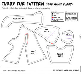 1998 Furby Fur Pattern (With Mane) by Cavity-Sam