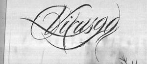 Virus90 logo sketch by KevoeWest
