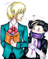 Cedric and Eva by UmiHoshi