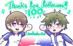 100 Followers!! by UmiHoshi