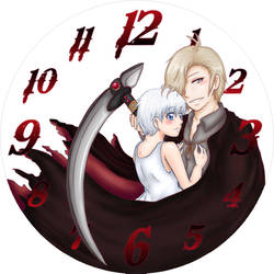 Don't fear the Reaper v.3 Clock by UmiHoshi