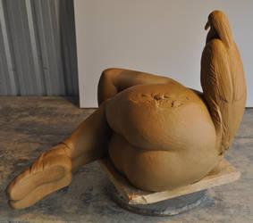 'taken' greenware by JulieSwanSculpture