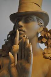 'it's ok' greenware by JulieSwanSculpture