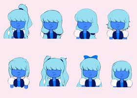 Sapphire's Hair by Katantoon
