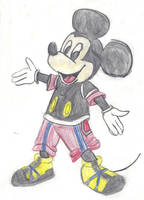 My drawing of King Mickey from KH ReCoM by Dracoknight545