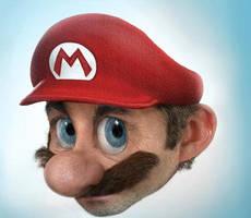 Super Mario Bros Real Face by softendo