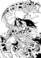 Death1-ink by Baldobaldari