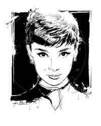 Audrey Hepburn by tbaneart